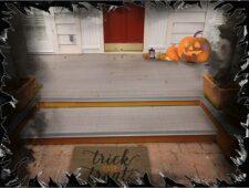 Front Porch Halloween Theme