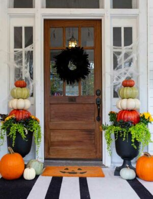Front Porch Halloween Planters