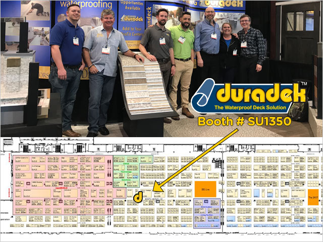 IBS 2020 Floor Plan South Hall - Duradek on Level 2 at booth SU1350.