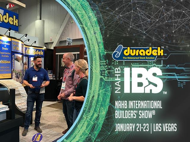Duradek is at the International Builders Show 2020, Las Vegas