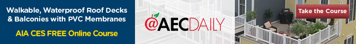 AIA CES Course on AEC Daily Online Learning from Duradek Banner