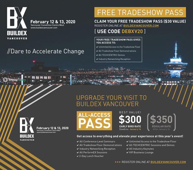 Buildex Vancouver Free Registration