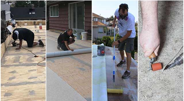 Sequence of steps to install Duradek Vinyl Decking Membranes