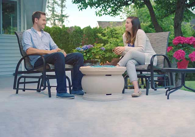 Enjoy outdoor living space with family