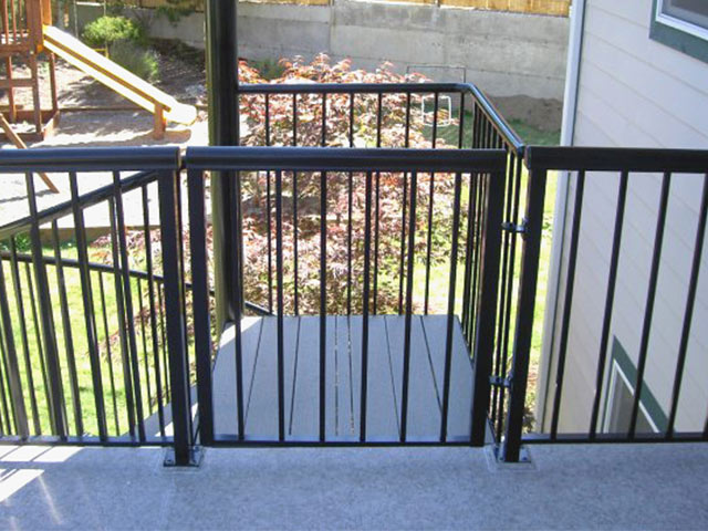 Gate on a deck
