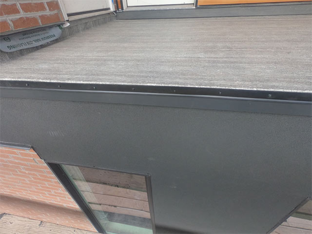 Roof Deck Construction Sequencing with Outside Edge Flashing Waterproofing Over Living Space