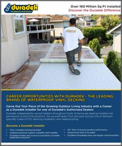 Duradek Installer Opportunity Brochure
