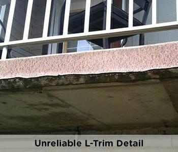 unprofessional and unreliable outside edge on vinyl deck