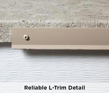 professional and reliable L-Trim outside edge waterproofing detail on vinyl deck