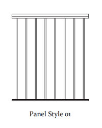 Durarail Standard Picket Railing Panel Style 01