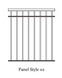 Durarail Standard Picket Railing Panel Style 02