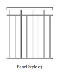 Durarail Standard Picket Railing Panel Style 03
