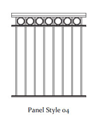 Durarail Standard Picket Railing Panel Style 04