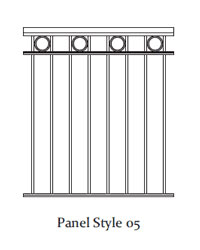 Durarail Standard Picket Railing Panel Style 05