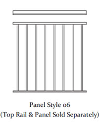 Durarail Standard Picket Railing Panel Style 06