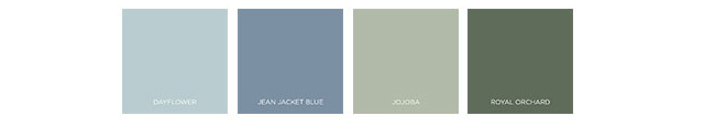 Behr 2021 Color Trends - The Calm Zone Palette