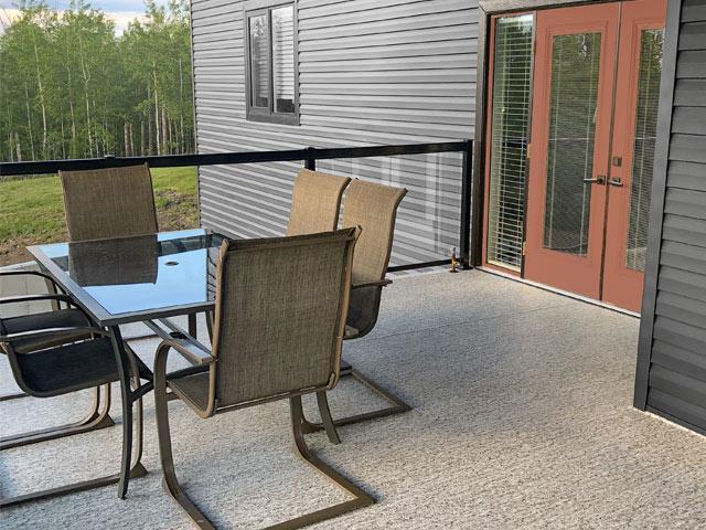 Behr exterior color trends for 2021 with Duradek Arctic Quartz vinyl decking