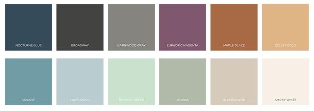 Behr 2021 Color Trends - The Outdoor Escape Palette