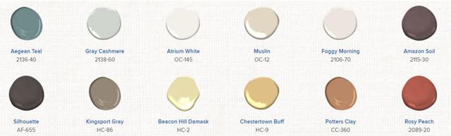 Benjamin Moore Color Design Trends 2021