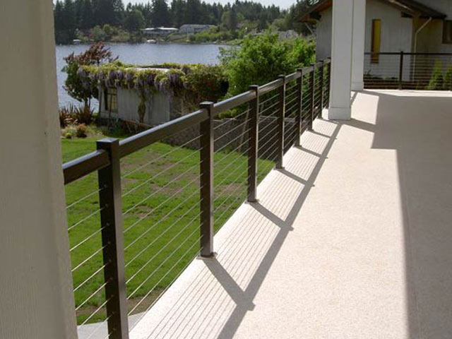 cable railing on a deck