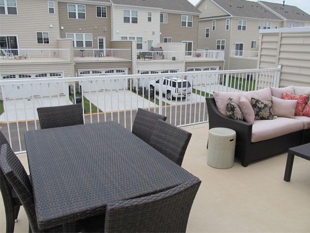recreational roof deck on multi residential property