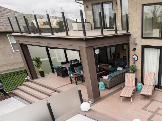 residential recreational roof deck