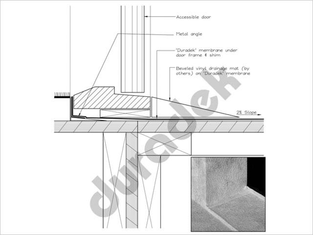 Duradek Accessible Door Drawing