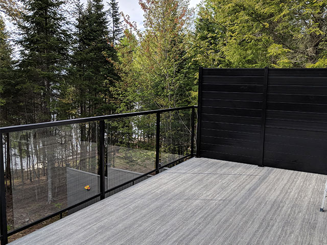 privacy panel on a deck
