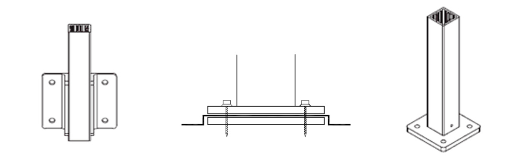 Railing mounting options