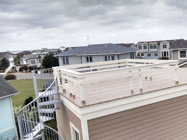 roof deck addition for more usable space