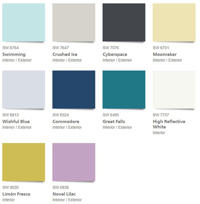 Sherwin Williams 2021 Color Trends - The Continuum Palette