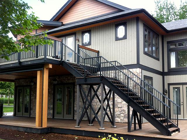 adjustable stair railing